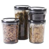 OXONE Teeter Board Storage Jar 4pcs [OX-302] - Black - Toples